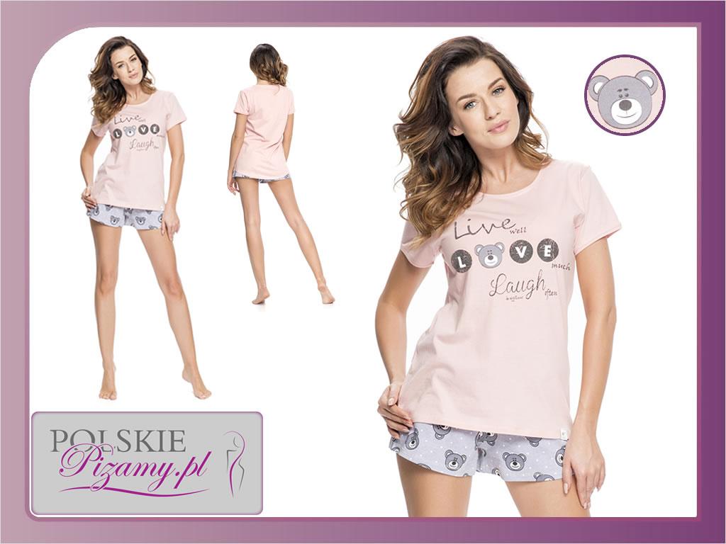 Piżama damska BEAR łosoś