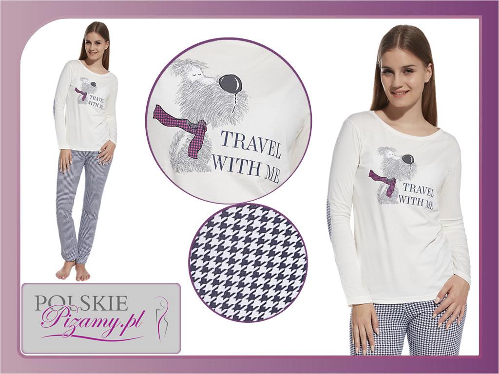 Piżama damska Travel, Cornette
