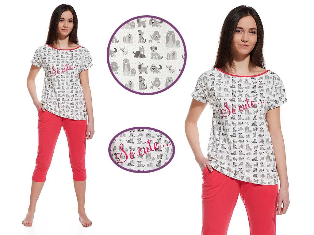 Piżama damska Dogi, Cornette