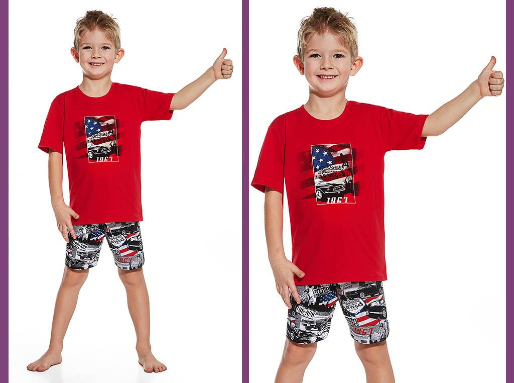 Piżama dziecięca Ameryka, Cornette
