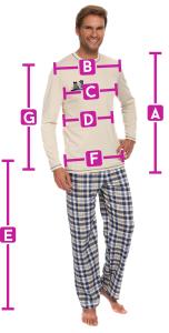 piżama meska - wymiary
